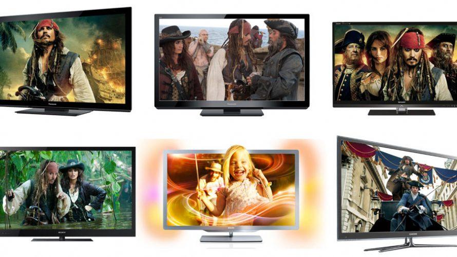 6 store 3D TV'er