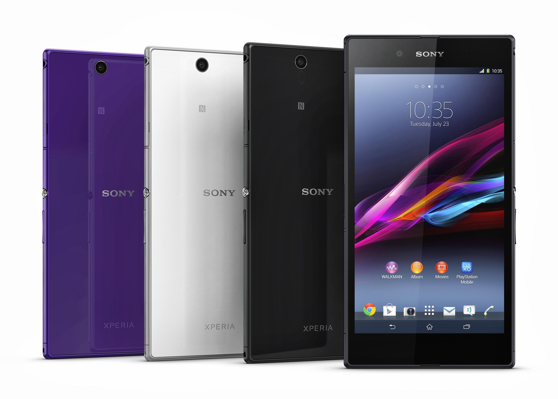 Sony Xperia Z Ultra fås i tre forskellige farger: Hvit, svart og ...