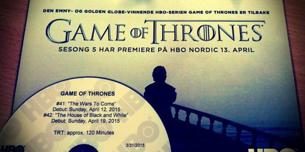 Game of Thrones 5 - premiere på mandag!