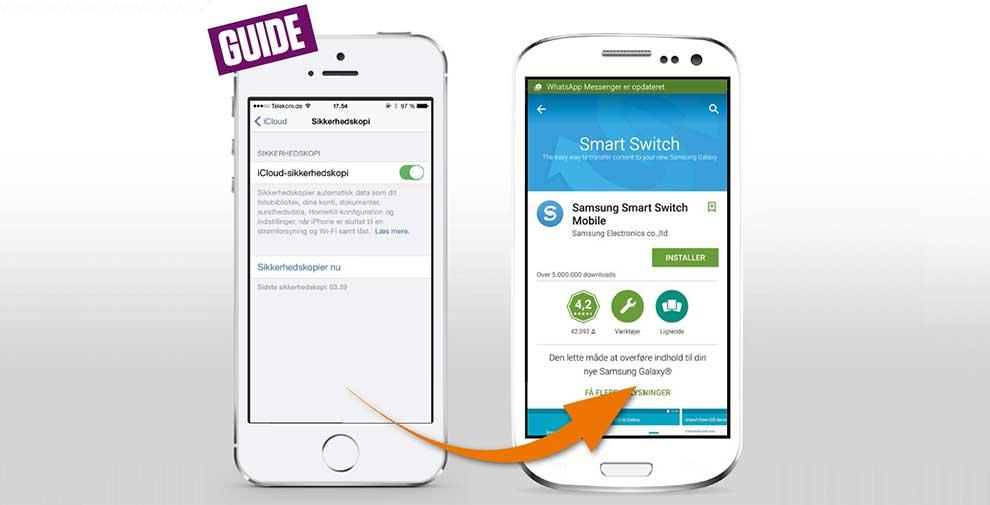 hvordan bytte bruker på iphone
