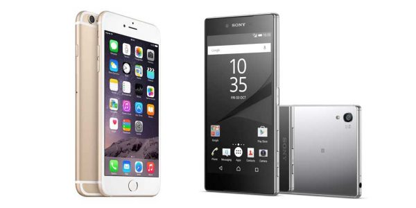 Sony Xperia Z5 Premium mot iPhone 6s Plus