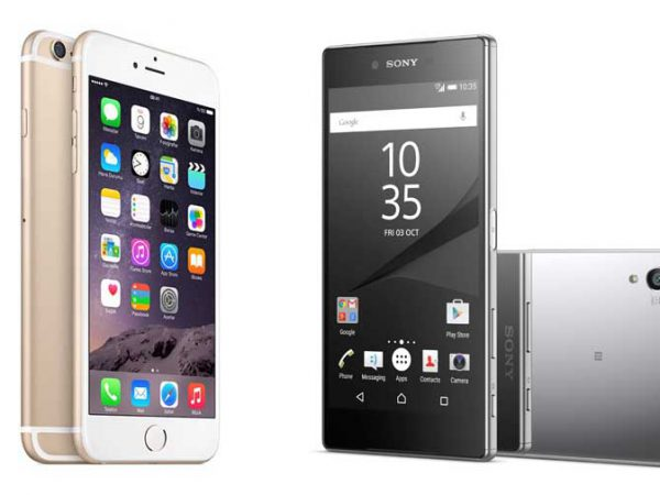 Sony Xperia Z5 Premium mot iPhone 6s Plus