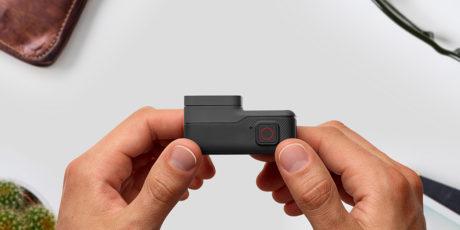 Nå utføres både av/på- og opptaksfunksjon av samme knapp. Foto: GoPro