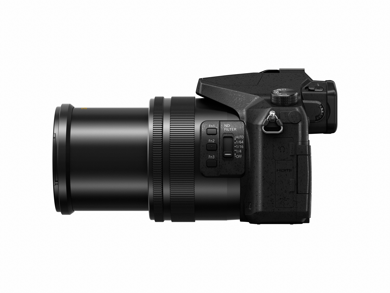 Kameran har många knappar som kan anpassas efter olika behov, som de här tre bredvid ND-filtret. Foto: Panasonic