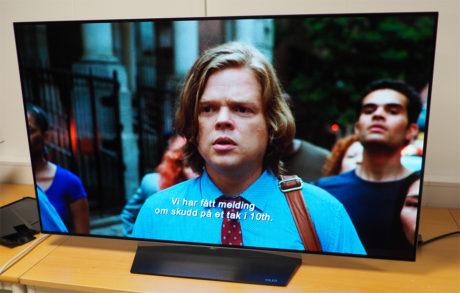 """OLED55B6 har en väldigt hög bildkvalitet. Här är Netflix-serien """"Daredevil"""" som visas i äkta 4K-upplösning."""
