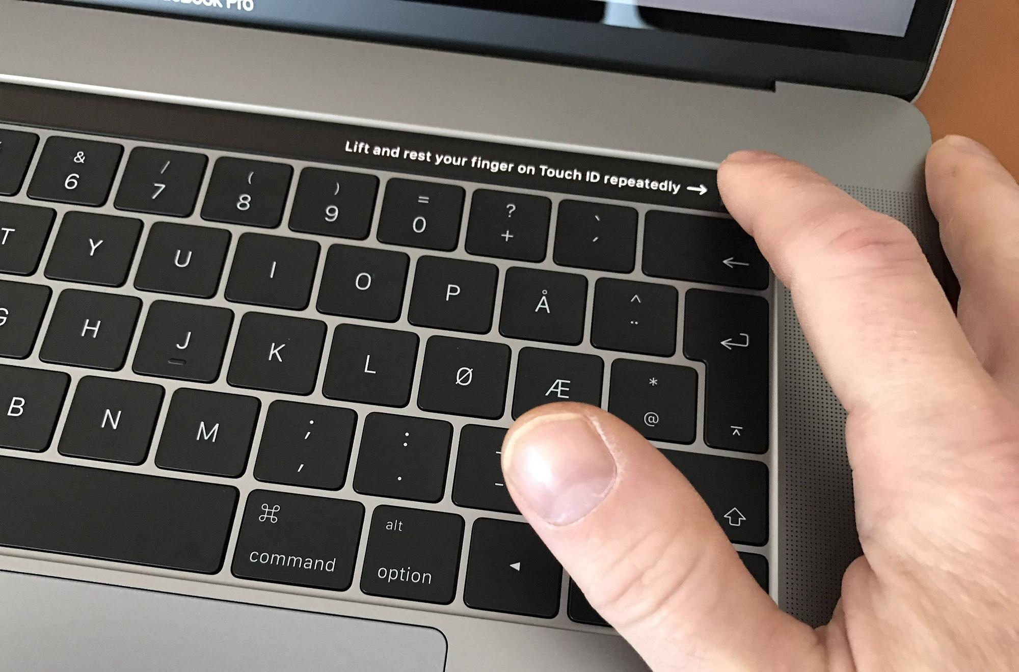 Inloggning och betalning med fingeravtryck.