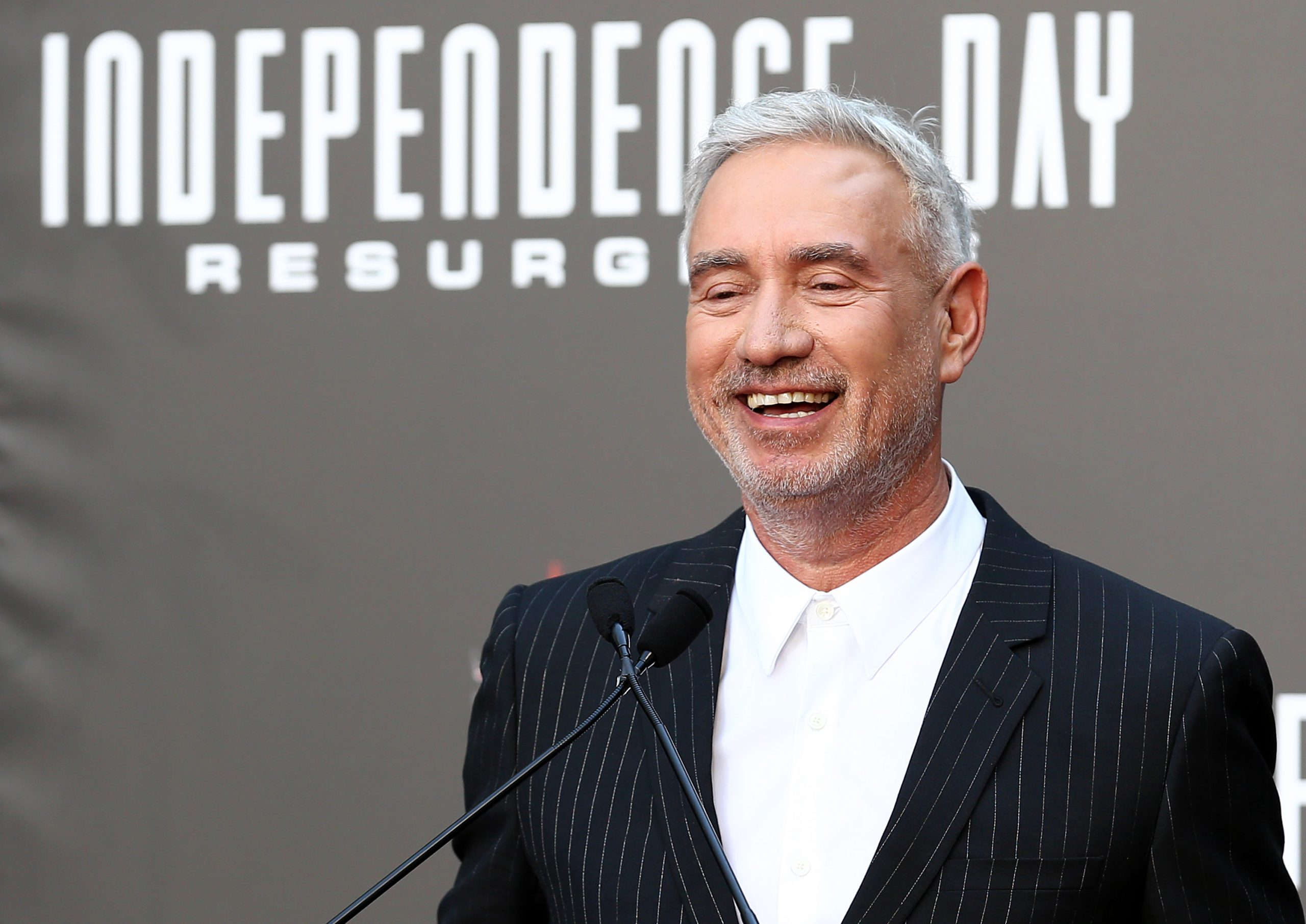 Mandatory Credit: Photo by John Salangsang/REX/Shutterstock (5735157bf) Roland Emmerich 'Independence Day: Resurgence' hand and footprint ceremony, Los Angeles, USA - 20 Jun 2016