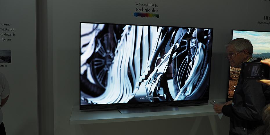 TV-apparaterna har numera ett färgläge som är kalibrerat av Technicolor och som stöder Technicolors Advanced HDR, utöver de andra formaten (inklusive Dolby Vision och HDR10). Foto: Geir Gråbein Nordby.