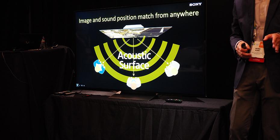 Med panelet som selve lydkilden kommer lydene fra der ting skjer på skjermen, og man får også bedre spredning av lyden til flere sitteplasser. Foto: Geir Gråbein Nordby