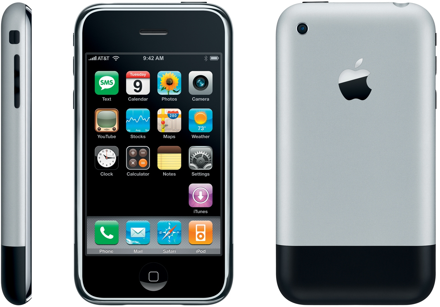 original-apple-iphone-2g-2007 steve jobs