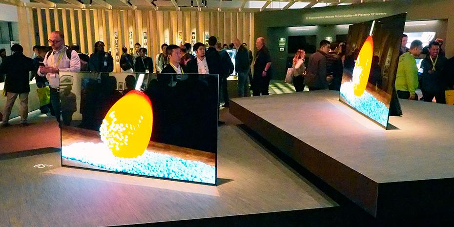 Sonys Bravia OLED-TV, slik den var stilt ut på selve messen. Foto: Geir Gråbein Nordby