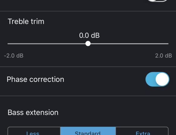 Appen gir deg tilgang til flere viktige parametere som kan gi deg bedre lyd.