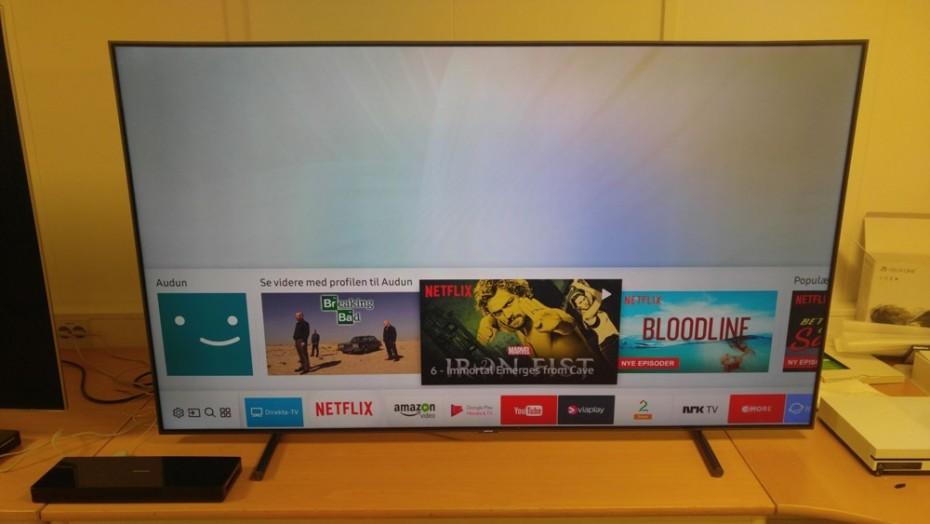 Tizen-menysystemet är överskådligt. Här med genvägar till de senast sedda Netflix-avsnitten. Foto: Samsung