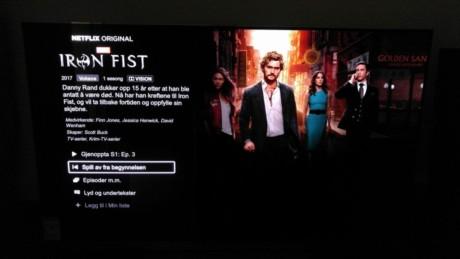 Netflix-serien Iron Fist ser mycket bättre ut i Dolby Vision-version. Foto: Audun Hage