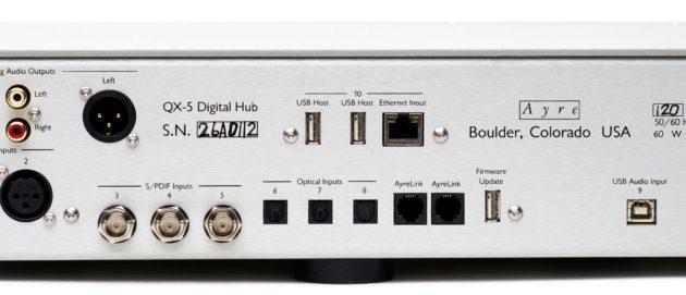 Alle inngangene man trenger i en DAC, ethernet for nettverkstilkobling også.
