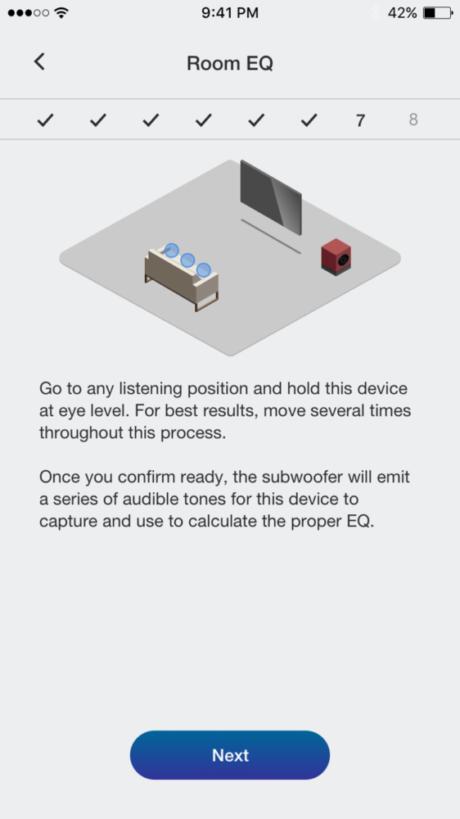 Rumskorrektionen har en app med ett enkelt gränssnitt.
