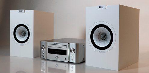 Marantz M-CR611 og KEF Q150