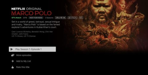 Netflix 4K HDR –  Marco Polo