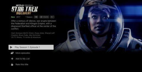 Netflix 4K HDR – Star Trek Discovery