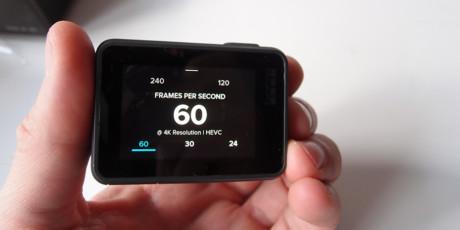 Med hjälp av pekskärmen är det enkelt att ställa in 4K 60p. Foto: Geir Gråbein Nordby