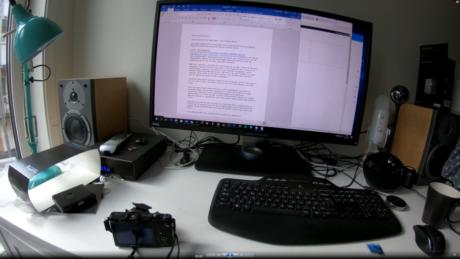 GoPro Hero6 Black filmar video i hög kvalitet. Vartenda ord i denna artikel syns tydligt på skärmen. Foto: Geir Gråbein Nordby