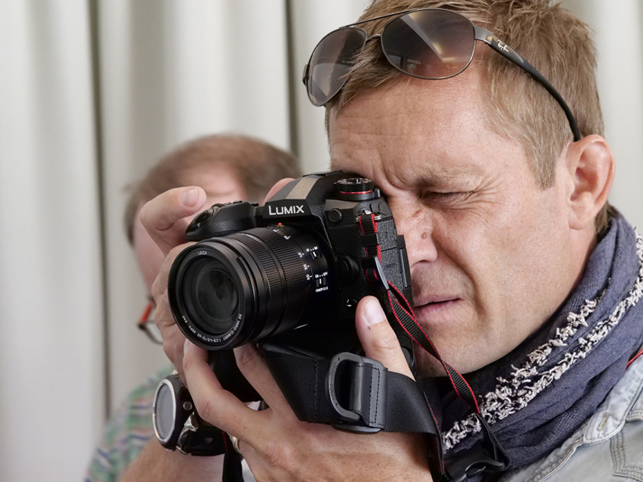 Joakim Odelberg är Lumix-ambassadör och var en av de första som provade Lumix G9. Foto: Lasse Svendsen