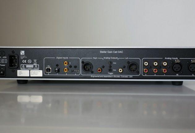 Digitale innganger inkluderer både USB og HDMI. I tillegg er Stellar Gain Cell DAC en ekte analog forforsterker, med en balansert tre ubalanserte innganger. Foto: Geir Gråbein Nordby
