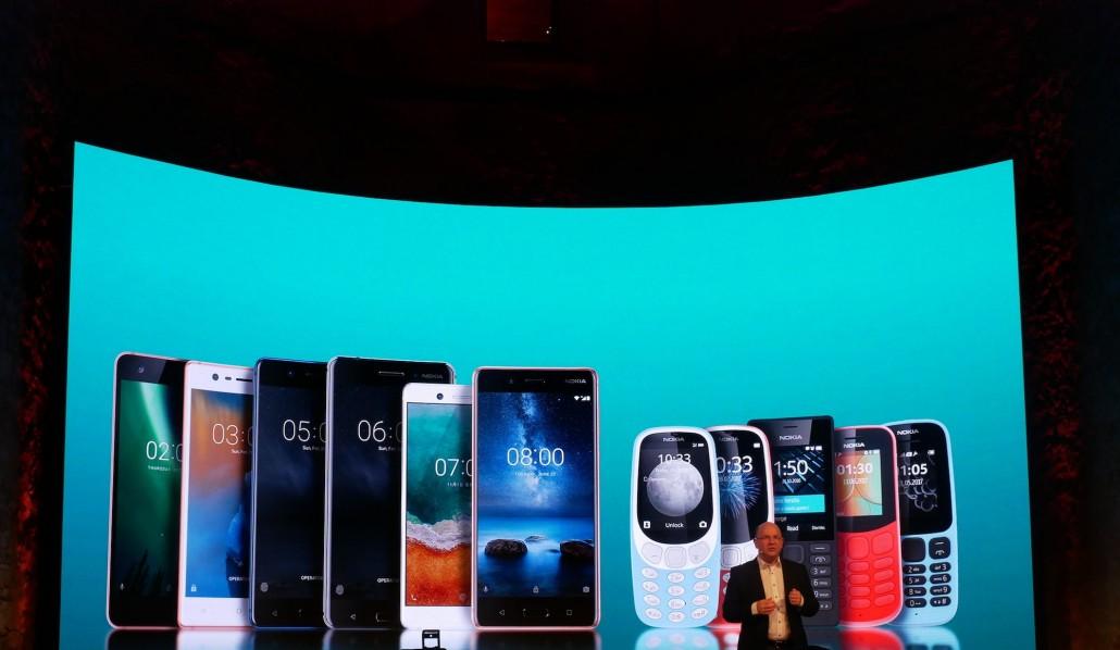 Nokia lanserer fem nye telefoner