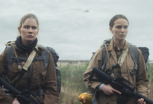 Jennifer Jason Leigh and Natalie Portman in Annihilation from Paramount Pictures and Skydance.