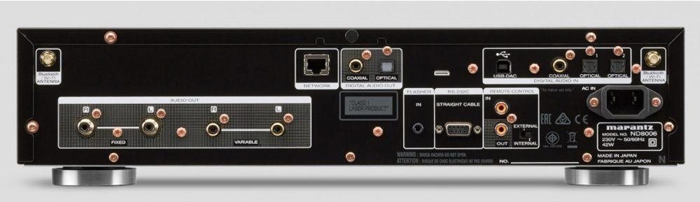 Marantz ND8006 har inn- og utganger til alle behov. Foto: Marantz