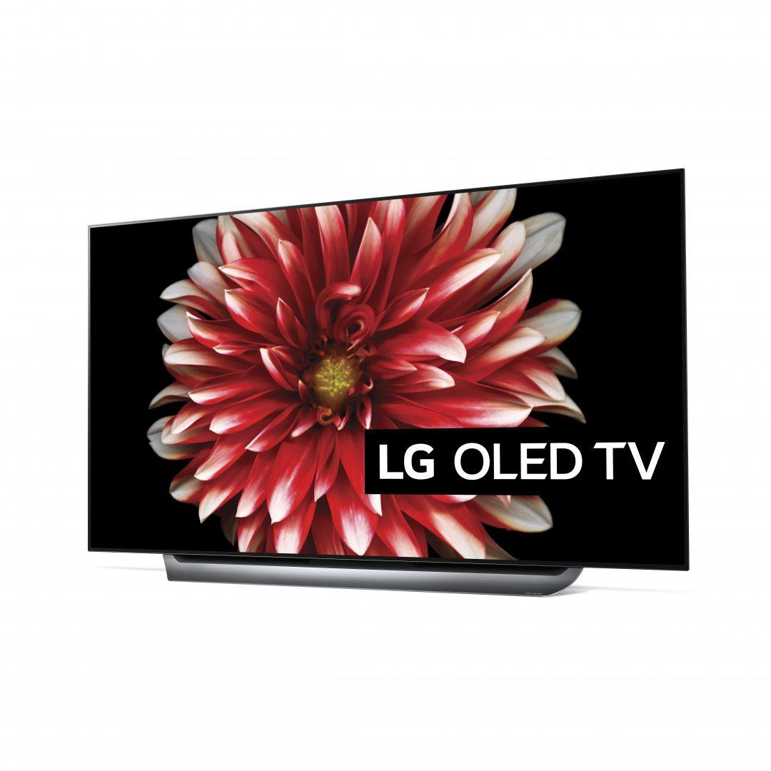 LG OLED65C8 har et stramt og moderne utseende, med en nesten usynlig innramming som får bildet til å nærmest sveve i luften.