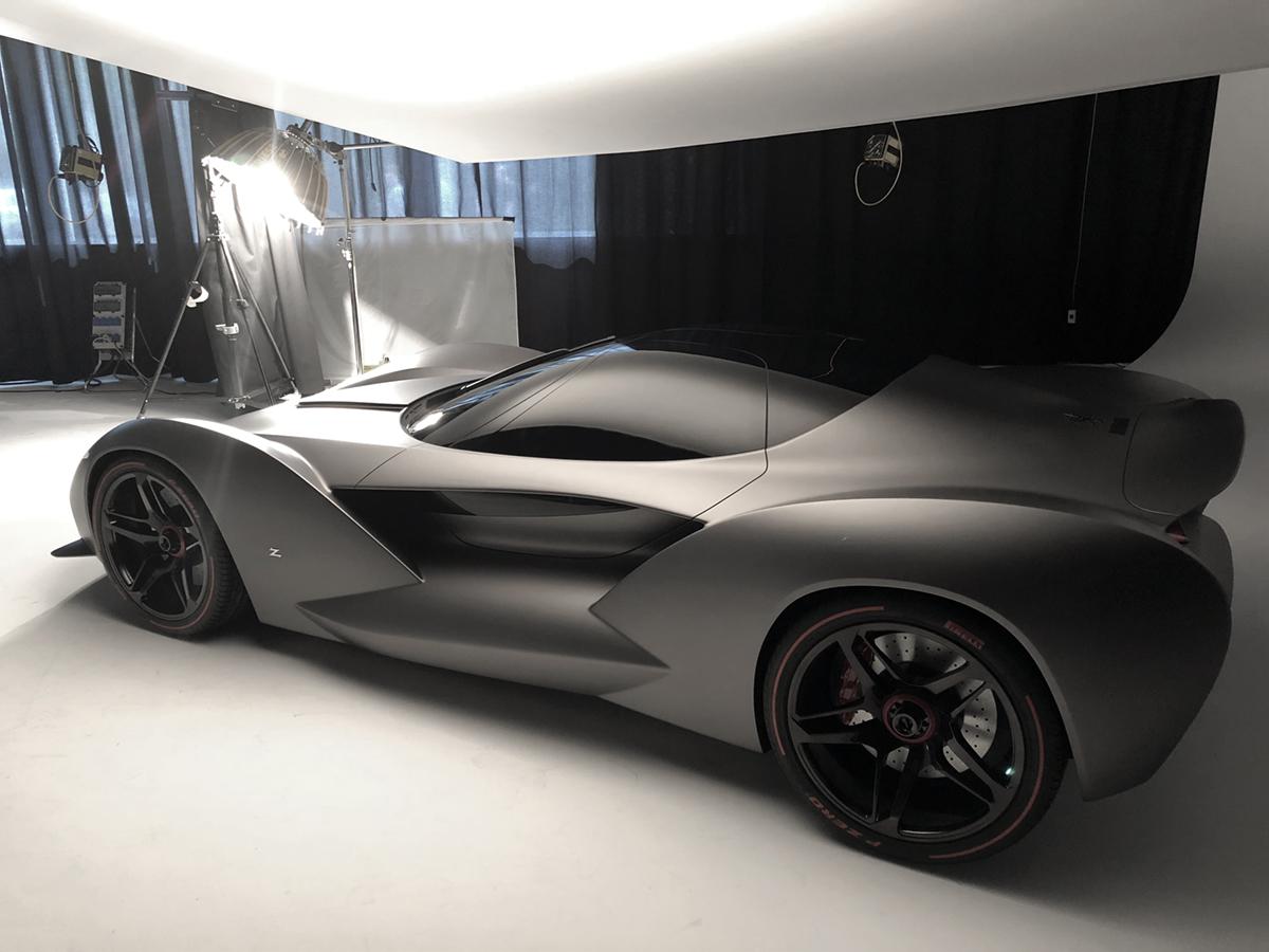 Zagatos senaste bil, en designstudie som visades upp på bilmässan i Geneve i år: Iso Rivolta VGT Zagato. Foto: Lasse Svendsen