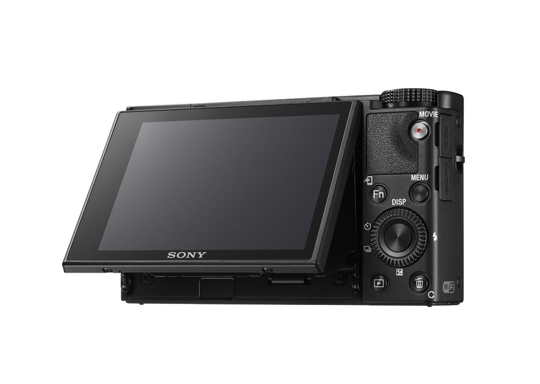 Pekskärmen kan lutas 180 grader. Foto: Sony