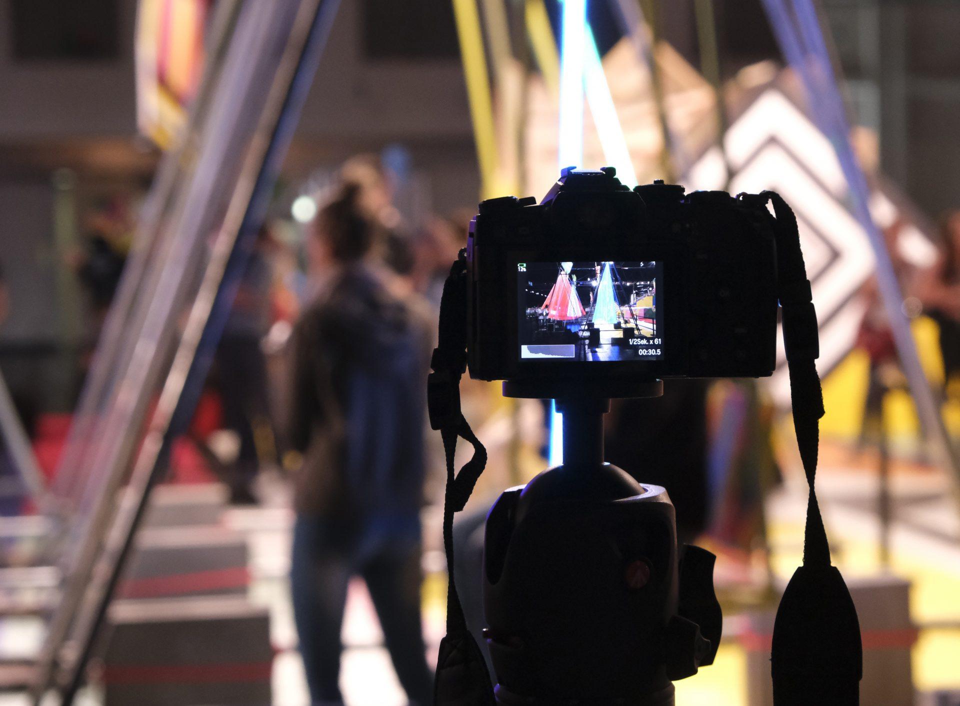 Live Composite-funktion är aktiverad och kameran är redo för exponering. Foto: Lasse Svendsen