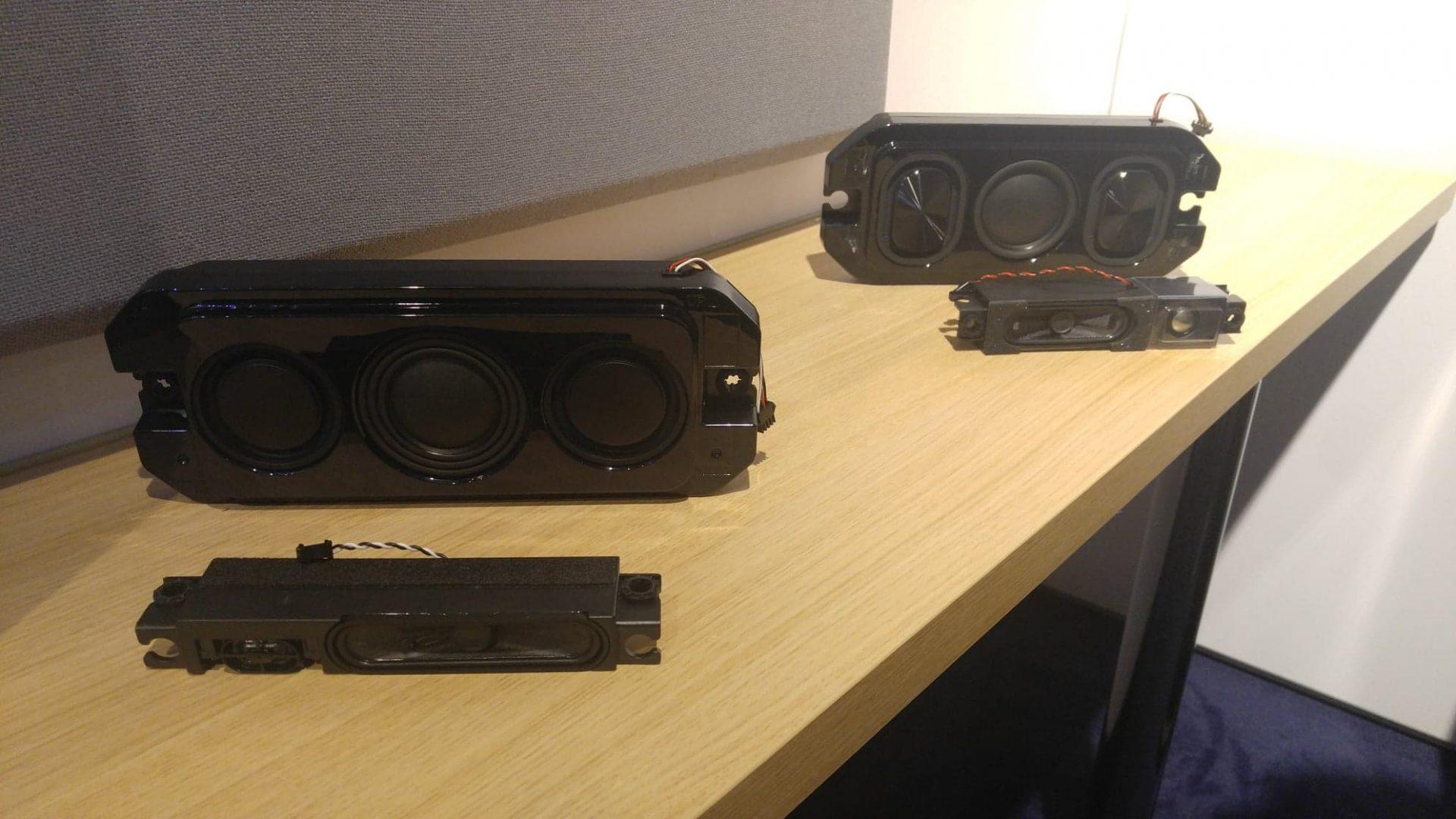 Philips OLED+ 903 har relativt påkostade högtalarelement. Foto: Audun Hage