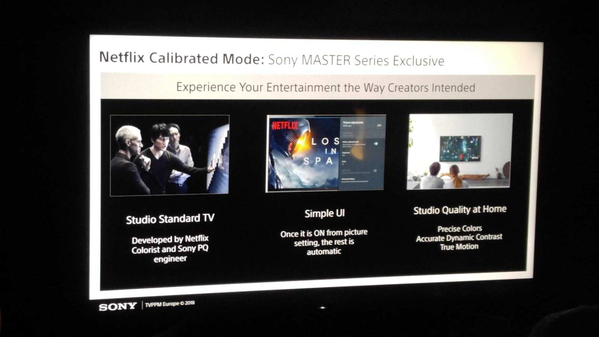 Sony Master Series stöder Netflix Calibrated Mode. Foto: Audun Hage