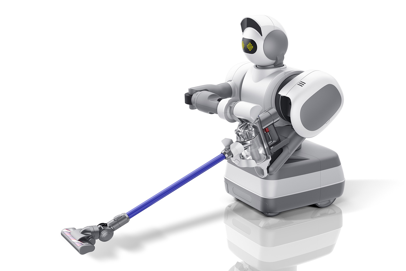 Roboten Aeolus kan städa huset, men också hämta det du vill ha från kylskåpet. Foto: Aeolus Robotics