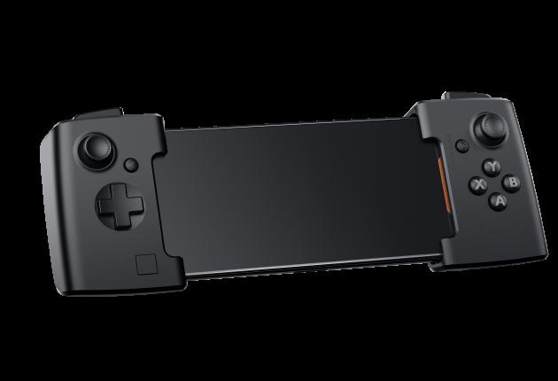 """Man kan kjøpe alle typer ekstrautstyr til Asus ROG Phone. Det mest nødvendige er en """"forlenger"""" med innebygde joysticks. (Foto: Asus)"""