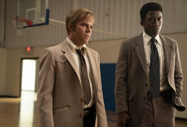 RYAN nervous as he speaks with WAYNE and ROLAND. (Warrick Page/HBO)