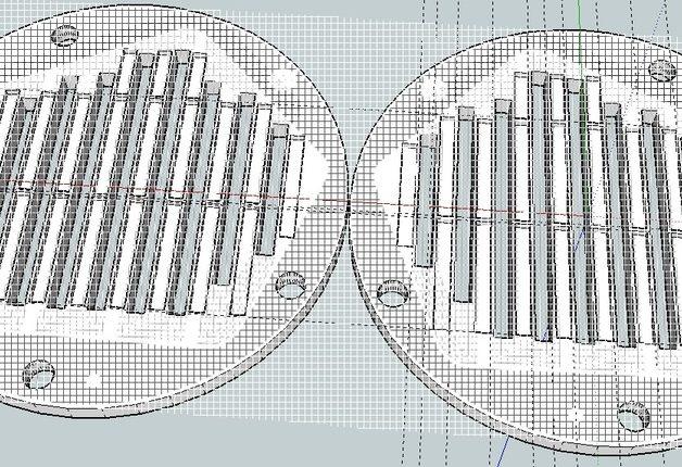 Membranen i et planmagnetelement er en syltynn film, som henger i løse luften, mellom to magnetfelt. Illustrasjon: Creative Commons