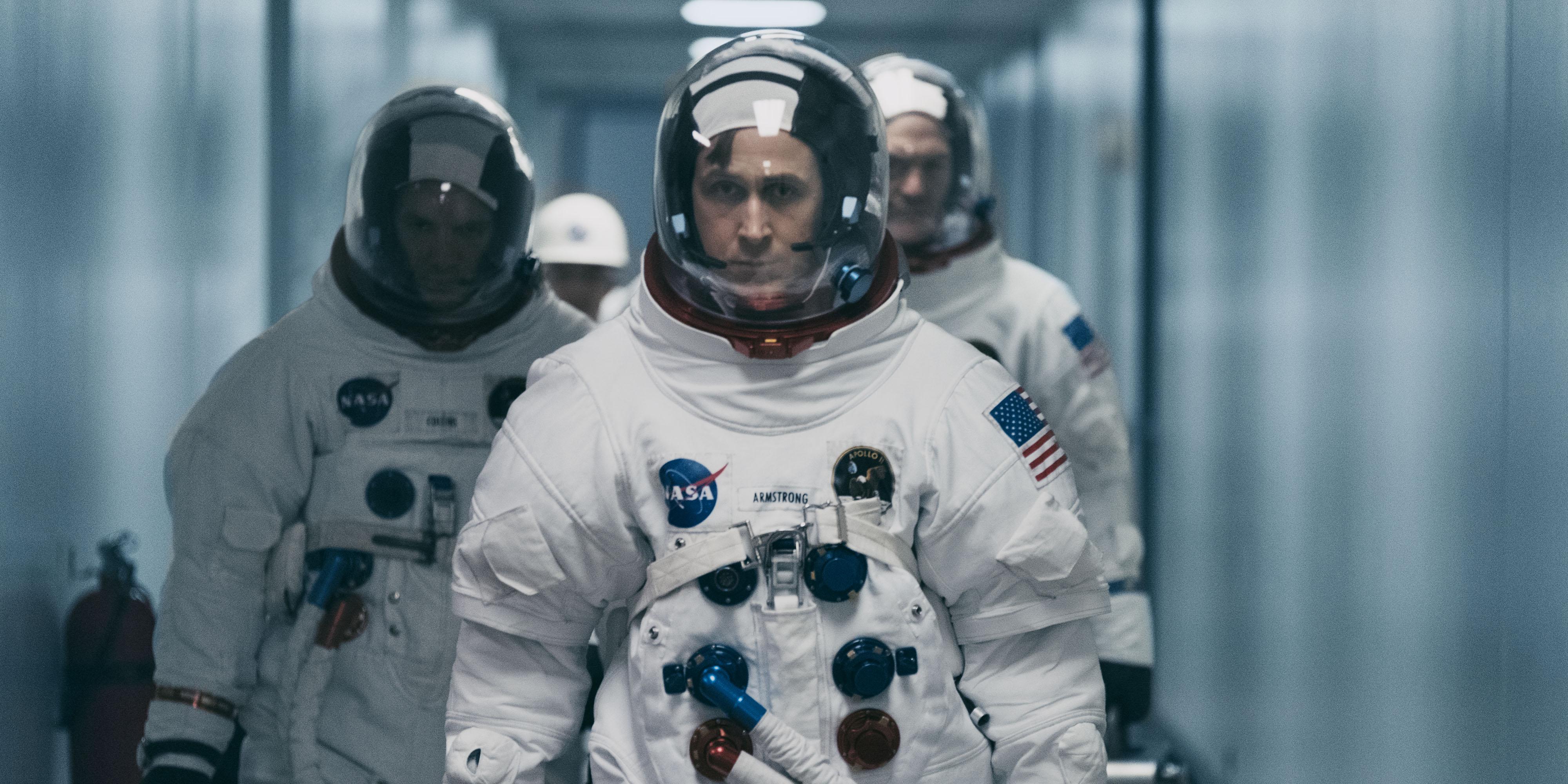 """Pinsamt få nomineringar till """"First Man"""". Här är Ryan Gosling. Foto: Universal/Sony"""