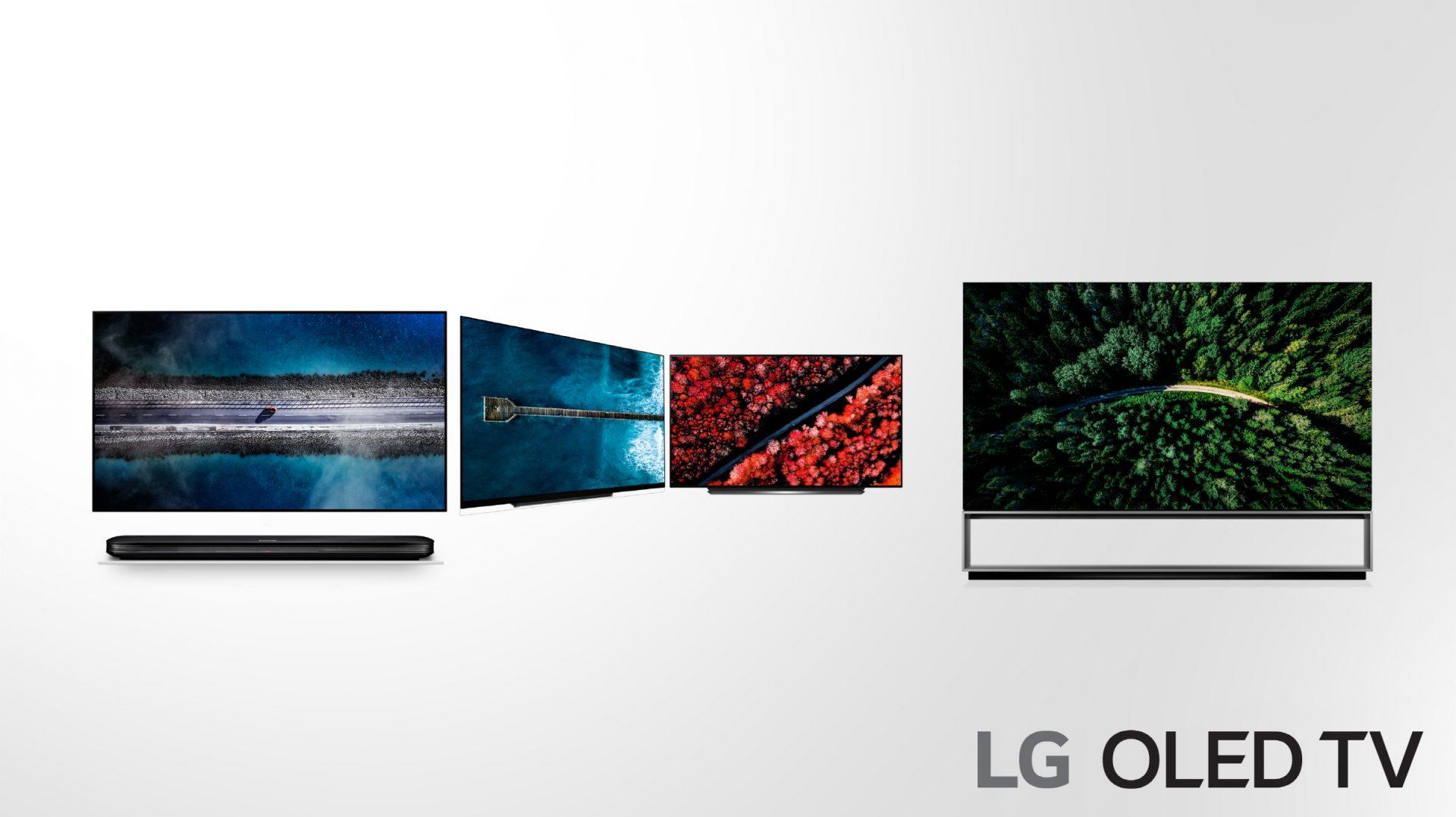 Årets nya OLED-modeller har massor av nyheter, inklusive det helt nya 8K-flaggskeppet Z9 (längst till höger)! (Foto: LG)