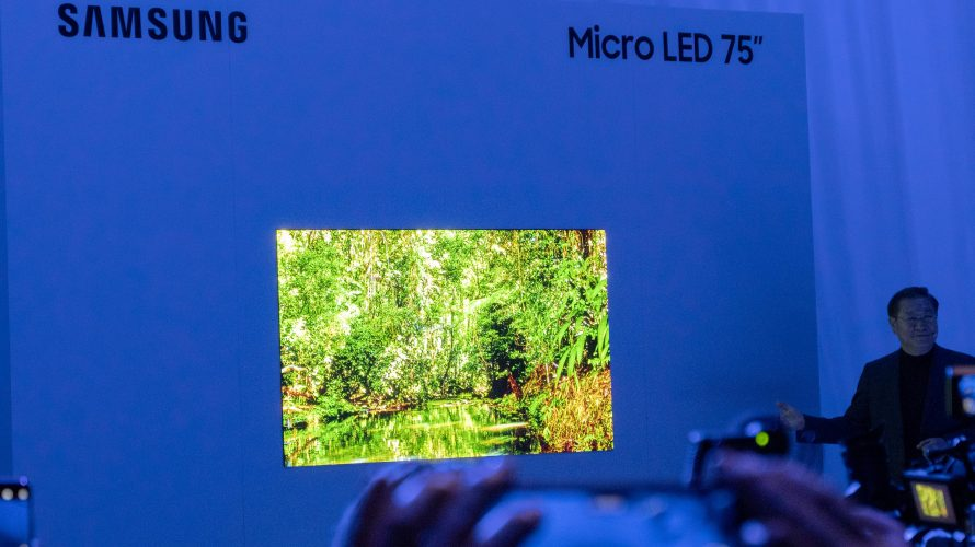75 tommer Micro-LED fra Samsung