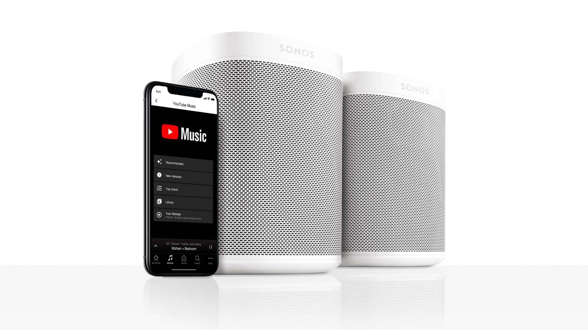 Sonos får YouTube Music