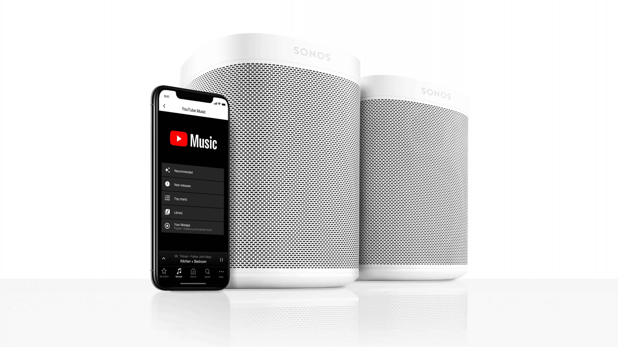 Sonos får YouTube Music