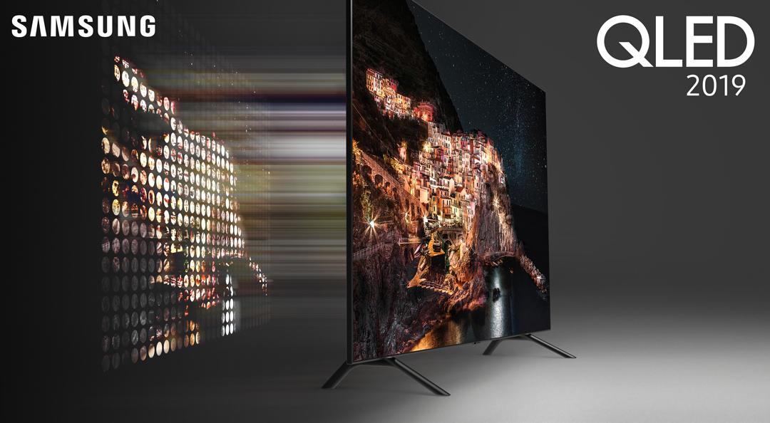 Nästan alla 2019 QLED-modeller får direkt LED-bakgrundsbelysning – eller Direct Full Array, som Samsung kallar det. Foto: Samsung