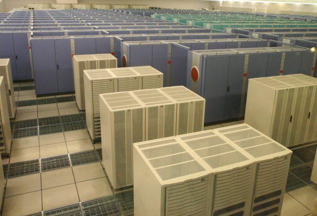 Earth Simulator super-datamaskinen i Yokohama hadde samme regnekraft som et Nvidia GeForce RTX 2080 Ti-grafikkort. Foto: WikiMedia.