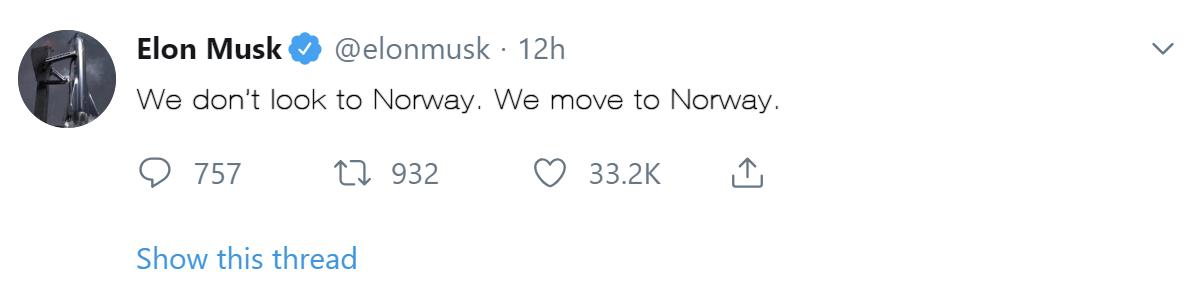 Elon Musk citerade Franklin D Roosevelt när han twittrade.
