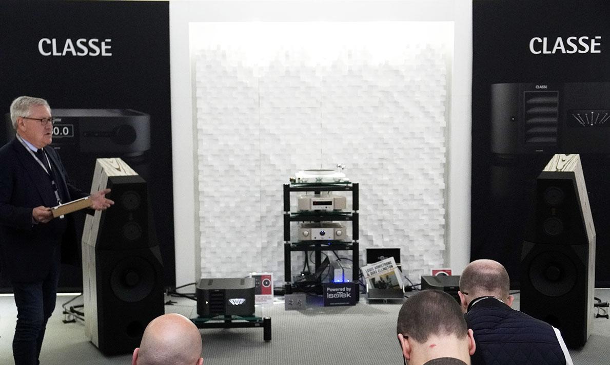 Delta-serien spelad på tyska FinkTeam WM-4-högtalare, demonstrerad av Classés Dave Nauber. Foto: Lasse Svendsen