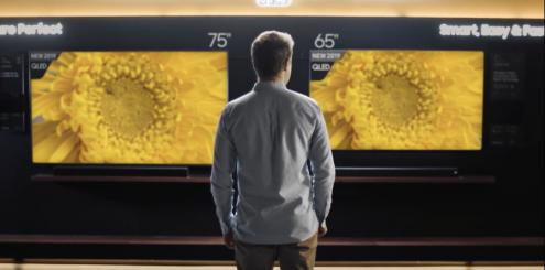"""Samsung: Velg 75"""" TV, ellers vil du angre!"""